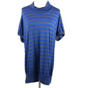 NEW Free People we the free striped tunic blue